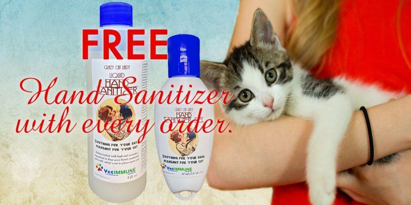 Crazy Cat lady hand sanitizer
